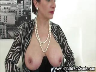nylons aged lady sonia in hawt lingerie