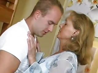 beautiful mama bonks with boy