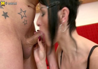 european milf sucks cock and gets drilled hard