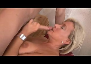 sexy blonde italian mature copulates delivery boy