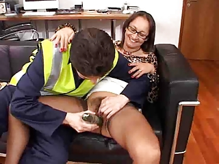 hot mature in stockings