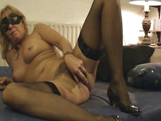 older milf mom hairy marital-device stockings