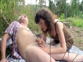 outdoor mature pair sex