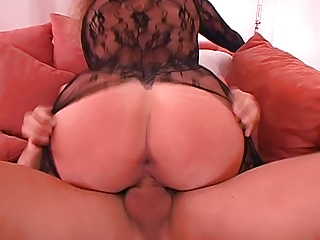 german wife big milk shakes in sexy catsuit laid