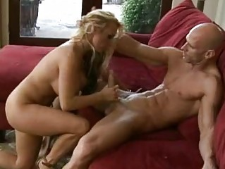 breasty blond d like to fuck in high heels rides