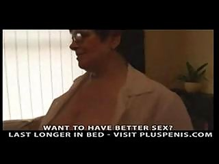 breasty granny in darksome nylons fingering part3