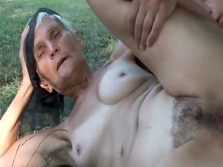 sexually excited hairy granny viviana fucks