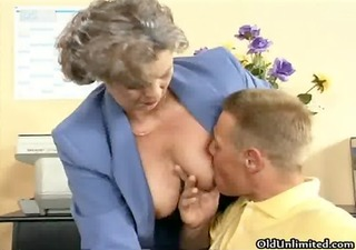 dirty old woman getting her curly pussy