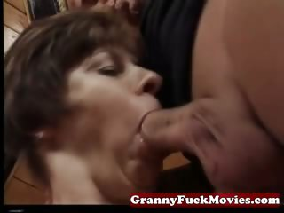 granny engulfing and pounding hairy snatch