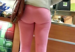 candid pink spandex swarthy butt of nyc
