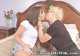 cougar recruits chick to share with hubby