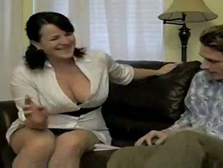 sexy busty smoking mama bangs soninlaw