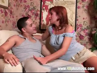 older sexy lady in a first porn discharge