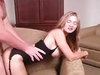 blond mother i with stockings