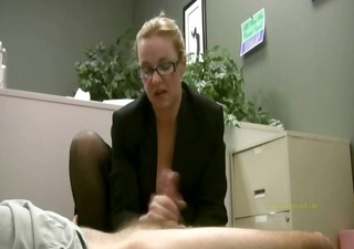 employee receives masturbated by his sexually