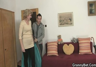 a lad picks up old blond and bonks her