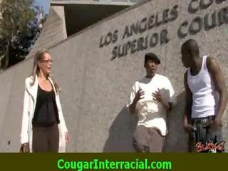 interracial sex - hot cougar mother i acquires