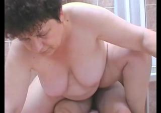 mature woman sucks and bonks a juvenile chap in