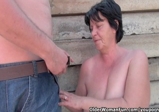 ugly grandma with 7 inch nipps gets screwed